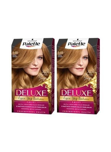 Palette Palette Deluxe 8-65 Kahve Köpüğüx 2 Paket Renkli